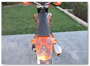 KTM EXC450 2008 CREATORX Graphics SpiderX Orange 3