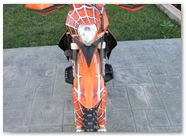 KTM EXC450 2008 CREATORX Graphics SpiderX Orange 5