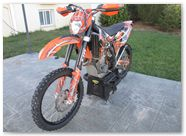 KTM EXC450 2008 CREATORX Graphics SpiderX Orange 6