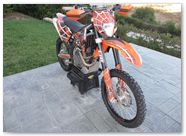 KTM EXC450 2008 CREATORX Graphics SpiderX Orange 7