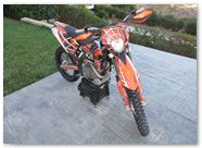 KTM EXC450 2008 CREATORX Graphics SpiderX Orange 9