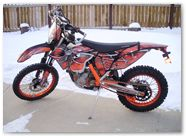 KTM EXC 2012 CreatorX Graphics Kit SpiderX Orange 001