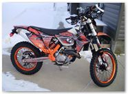 KTM EXC 2012 CreatorX Graphics Kit SpiderX Orange 003