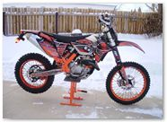 KTM EXC 2012 CreatorX Graphics Kit SpiderX Orange 004