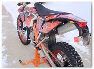 KTM EXC 2012 CreatorX Graphics Kit SpiderX Orange 005