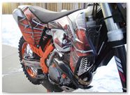 KTM EXC 2012 CreatorX Graphics Kit SpiderX Orange 008