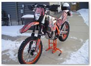 KTM EXC 2012 CreatorX Graphics Kit SpiderX Orange 009