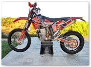 KTM EXC 450 2008 CreatorX Graphics Kit SpiderX Orange 001