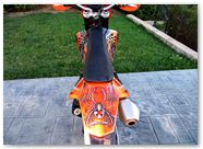 KTM EXC 450 2008 CreatorX Graphics Kit SpiderX Orange 003