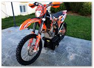 KTM EXC 450 2008 CreatorX Graphics Kit SpiderX Orange 006