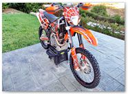 KTM EXC 450 2008 CreatorX Graphics Kit SpiderX Orange 007