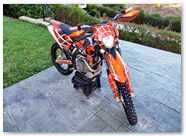 KTM EXC 450 2008 CreatorX Graphics Kit SpiderX Orange 009