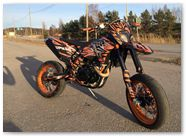 KTM EXC CreatorX Graphics Bolt Thrower Orange 001