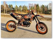 KTM EXC CreatorX Graphics Bolt Thrower Orange 003