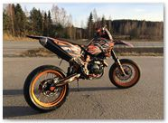 KTM EXC CreatorX Graphics Bolt Thrower Orange 004