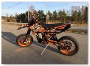 KTM EXC CreatorX Graphics Bolt Thrower Orange 005