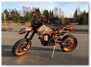 KTM EXC CreatorX Graphics Bolt Thrower Orange 006