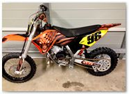 KTM SX65 CREATORX Graphics Skull Chief Orange