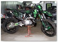 KTM XC 2012 CreatorX Graphics Kit Skull Chief Green 001