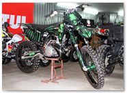 KTM XC 2012 CreatorX Graphics Kit Skull Chief Green 002