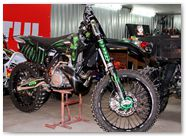 KTM XC 2012 CreatorX Graphics Kit Skull Chief Green 003