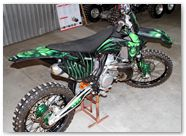 KTM XC 2012 CreatorX Graphics Kit Skull Chief Green 005
