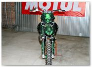 KTM XC 2012 CreatorX Graphics Kit Skull Chief Green 006