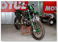 KTM XC 2012 CreatorX Graphics Kit Skull Chief Green 007
