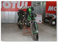 KTM XC 2012 CreatorX Graphics Kit Skull Chief Green 008