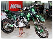 KTM XC 2012 CreatorX Graphics Kit Skull Chief Green 009