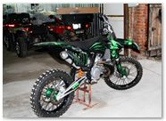 KTM XC 2012 CreatorX Graphics Kit Skull Chief Green 010