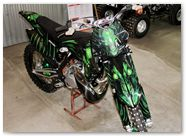 KTM XC 2012 CreatorX Graphics Kit Skull Chief Green 011