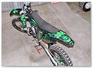 KTM XC 2012 CreatorX Graphics Kit Skull Chief Green 012