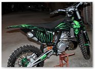 KTM XC 2012 CreatorX Graphics Kit Skull Chief Green 013