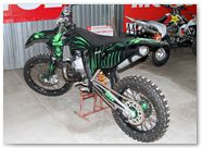 KTM XC 2012 CreatorX Graphics Kit Skull Chief Green 014