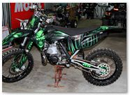 KTM XC 2012 CreatorX Graphics Kit Skull Chief Green 015