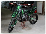 KTM XC 2012 CreatorX Graphics Kit Skull Chief Green 016