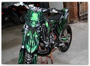 KTM XC 2012 CreatorX Graphics Kit Skull Chief Green 017