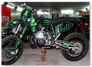 KTM XC 2012 CreatorX Graphics Kit Skull Chief Green 018