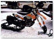 KTM XCF450 CreatorX Graphics Kit Canadian Flyer Orange White 01