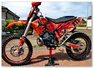 KTM XCW 2011 CreatorX Graphics Kit Dragonblast 1