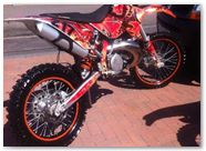 KTM XCW 2011 CreatorX Graphics Kit Dragonblast 2