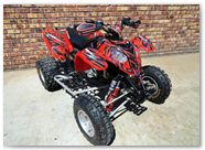 Polaris Predator 500 CreatorX Graphics Bolt Thrower Red 01