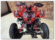 Polaris Predator 500 CreatorX Graphics Bolt Thrower Red 02