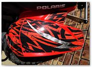 Polaris Predator 500 CreatorX Graphics Bolt Thrower Red 03
