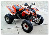 Polaris Predator 500 CREATORX Graphics Kit Bolt Thrower Orange 1