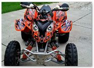 Polaris Predator 500 CREATORX Graphics Kit Bolt Thrower Orange 2