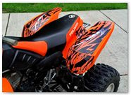 Polaris Predator 500 CREATORX Graphics Kit Bolt Thrower Orange 3