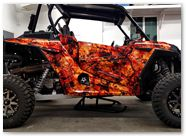 Polaris RZR1000 CREATORX Graphics Inferno Orange 01