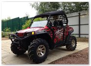 Polaris RZR CreatorX Graphics Bolt Thrower Red 001